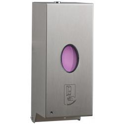 Dispensador automático de jabón líquido de pared en acero inoxidable cepillado