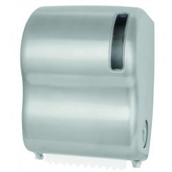 Distributeur inox papier essuie-mains en rouleau autocut à découpe automatique