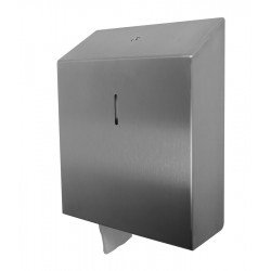 Toilet paper dispenser in stainless steel vandal-proof