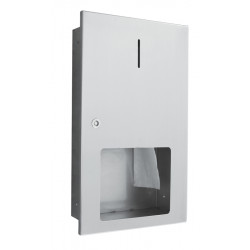 Toilet roll dispenser WC recessed in stainless steel maxi 400m