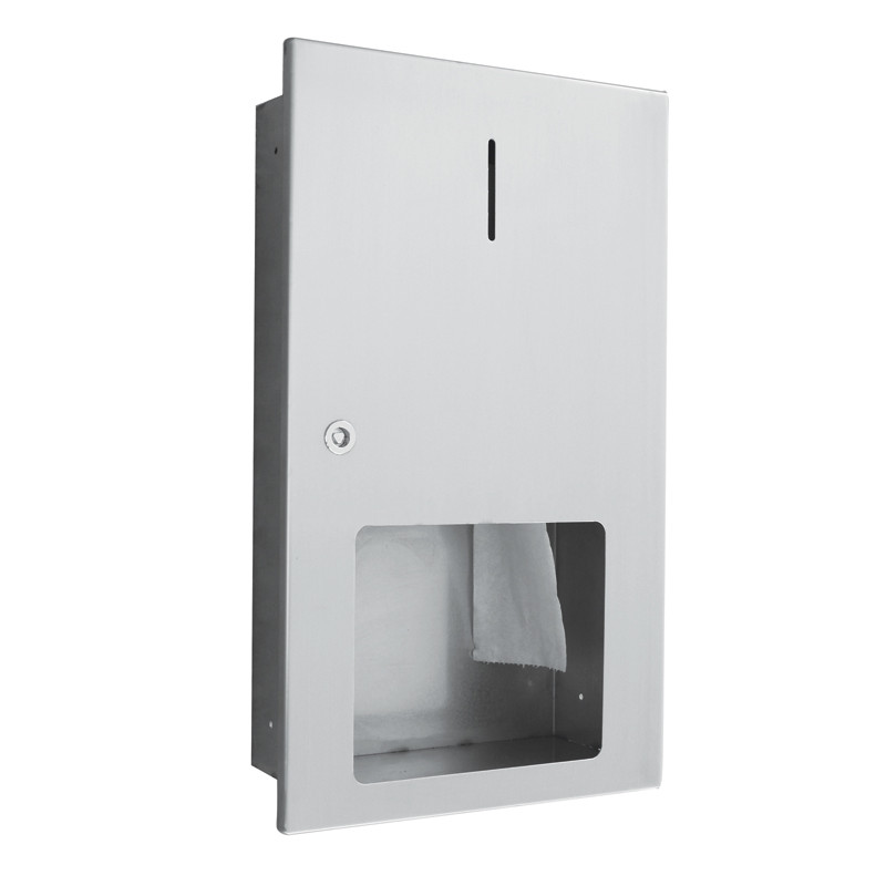 Photo Porte-rouleau WC encastré inox maxi 400m AS-60