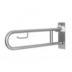 Barre d'appui WC relevable ou rabattable inox