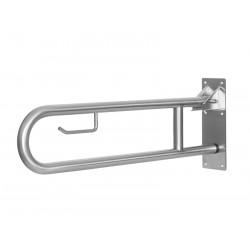 Barra de agarre de acero inoxidable abatible o plegable para el inodoro