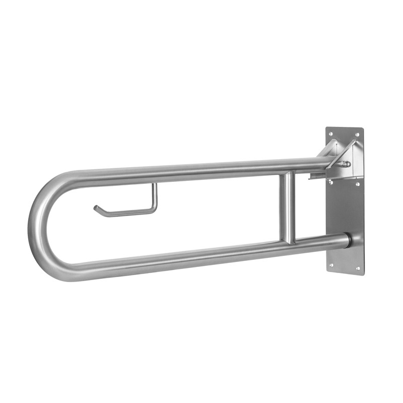 Photo Barre d'appui WC relevable ou rabattable inox IB-005-S