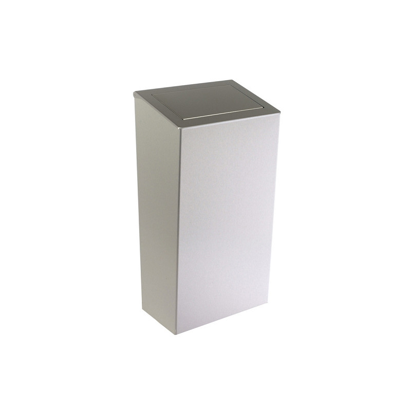 Photo Stainless steel bin design 50 L lid and hatch PUSH on the floor or mural DI-821