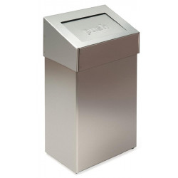 Miniature-0 Waste bin in stainless steel cover PUSH V32.7
