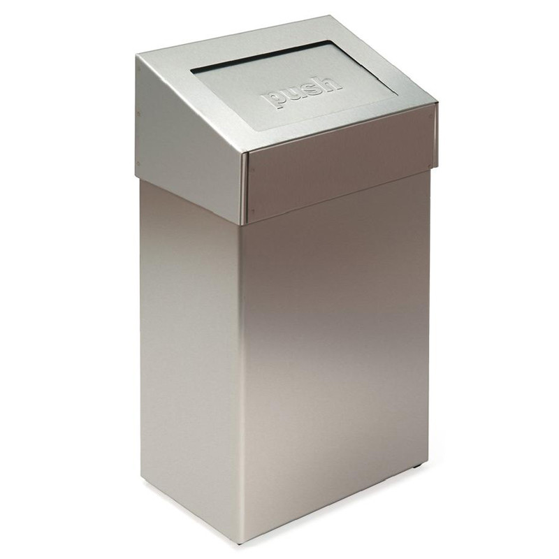Photo Waste bin in stainless steel cover PUSH V32.7