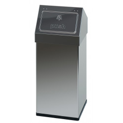 Waste bin collectivities in stainless steel trap Push