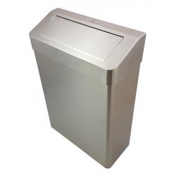 Cubo de acero inoxidable con tapa PUSH 25 L