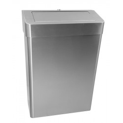 Miniature-1 Bin with push flap 25L and lock for collectivities AS-356