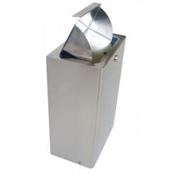 Miniature-1 Poubelle WC hygiène femme inox contenu hors de vue QT-6022