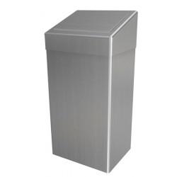 Poubelle sanitaire inox 50L couvercle PUSH