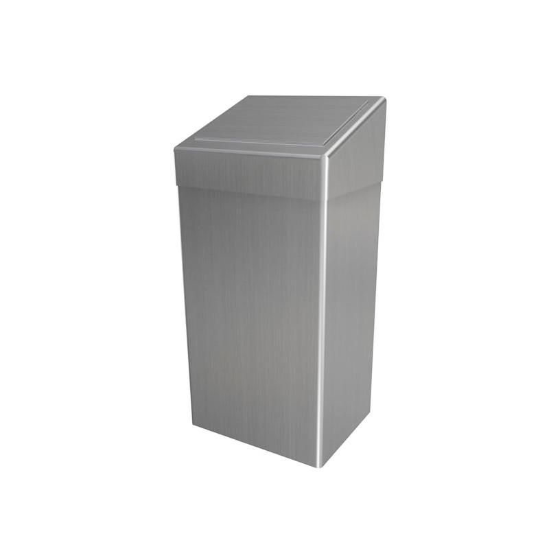 Photo Sanitary waste bin in stainless steel 50L lid PUSH DI-895