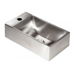 Small hand wash in stainless steel for WC