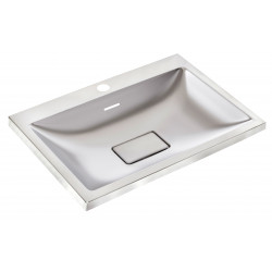 Wash basin mural stainless steel design rectangular