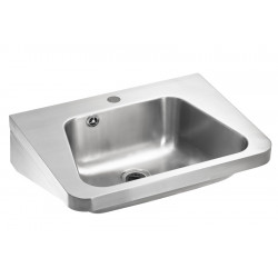 Lavabo industrial de pared trapezoidal de acero inoxidable