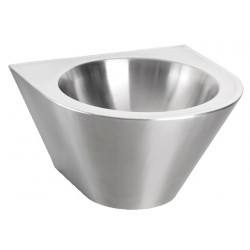 Wash basin mural stainless steel vandal proof for collective spaces