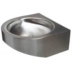 Wash basin vandal proof stainless steel PRM entirely closed