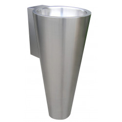 Conical wash basin floor standing  stainless steel design