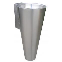 Vasque conique sur pied inox design