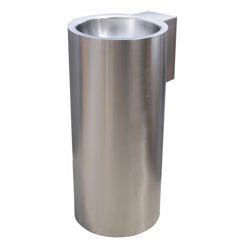 Photo Wash basin column design floor standing stainless steel LP-025-S