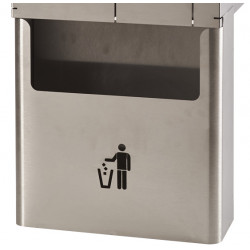 Stainless steel bin for hand wash station hygiene