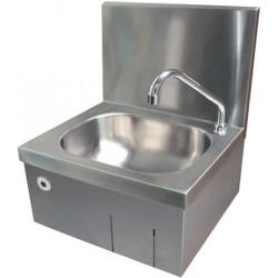 Lavabo automático higiénico de acero inoxidable montado en la pared con detección de presencia por infrarrojos