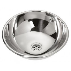 Recessed vanity bowl stainless steel polished