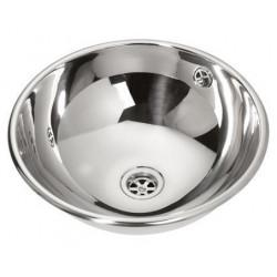 Vasque encastrable inox poli brillant