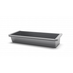 Miniature-5 Collective wash basin stainless steel for schools or industries with mural plumbing INTER-7-60