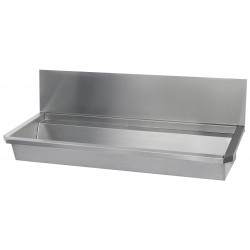 Wash basin stainless steel with back splash high for collectivities
