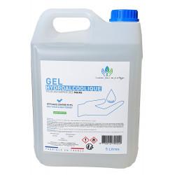 Lata de gel hidroalcohólico de 5 L, fabricada en Francia