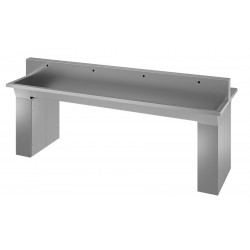Centrale wash basin stainless steel on foot for collectivities