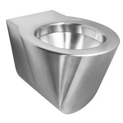 Cubeta suspendida de acero inoxidable antivandálica y de diseño OPTIMA