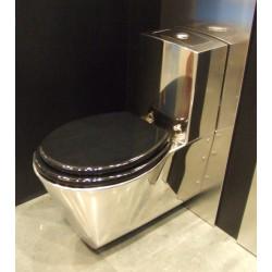 WC inox suspendu avec réservoir intégré tout-en-un