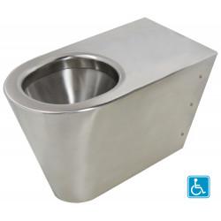 WC au sol inox P.M.R. ULTIMA sortie horizontale ou verticale