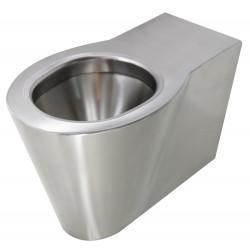 WC acier inox au sol design OPTIMA