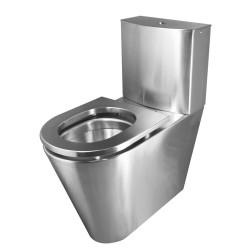 Miniature-1 Paquete de inodoro y cisterna en acero inoxidable, con opción de asiento en acero inoxidable IN-201-H