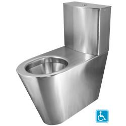 WC surélevé monobloc à poser PMR avec réservoir inox ULTIMA