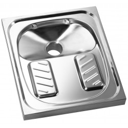 WC Turkish stainless steel recessed
