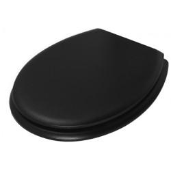 Black plastic toilet seat