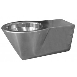 Toilet handicap extended version wall hung stainless steel