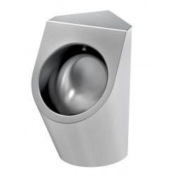 Corner urinal stainless steel URBA