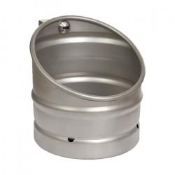KEG urinario de acero inoxidable con diseño de barril de cerveza y desbloqueo automático