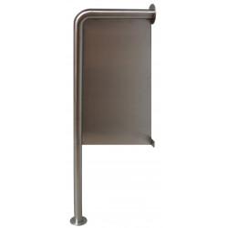 Separador de urinarios antivandálico sobre soporte de acero inoxidable