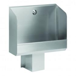 Urinario de pared de acero inoxidable con gran descarga automática integrada