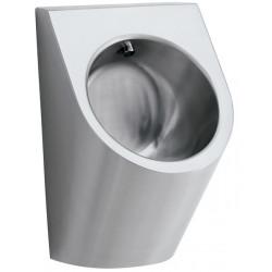 Urinario de acero inoxidable con enjuague automático de ahorro de agua integrado