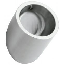 Urinario masculino antivandálico de diseño cilíndrico de acero inoxidable