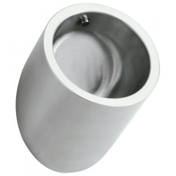 Urinal for men vandal proof stainless steel design cylinder