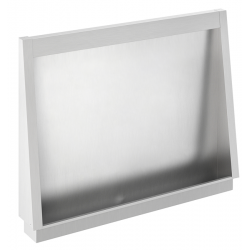 Urinal stall stainless steel recessed